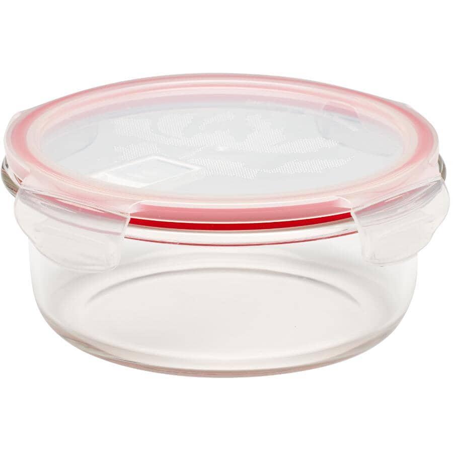 STORE N LOCK:Round Glass Storage Dish - 950 ml
