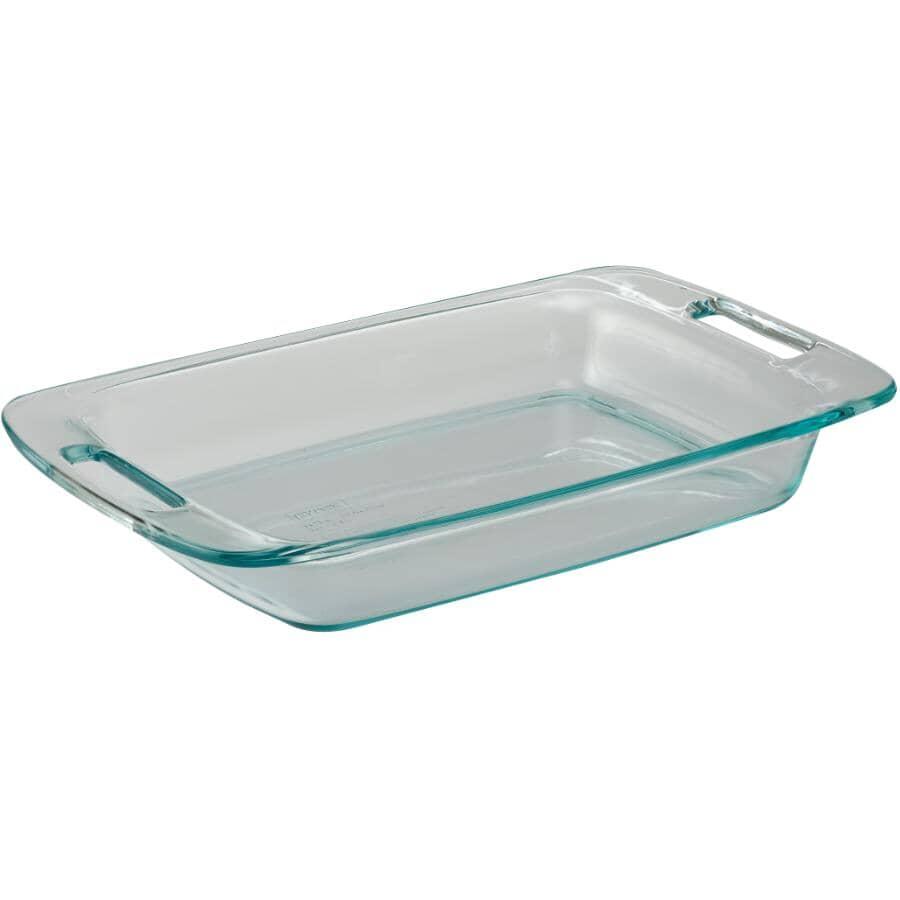PYREX:Easy Grab Oblong Glass Baking Dish - 3 Qt
