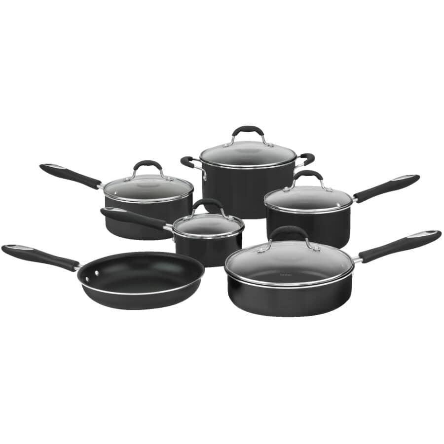 CUISINART:Advantage Non-Stick Cookware Set - with Glass Lids, 11 Piece