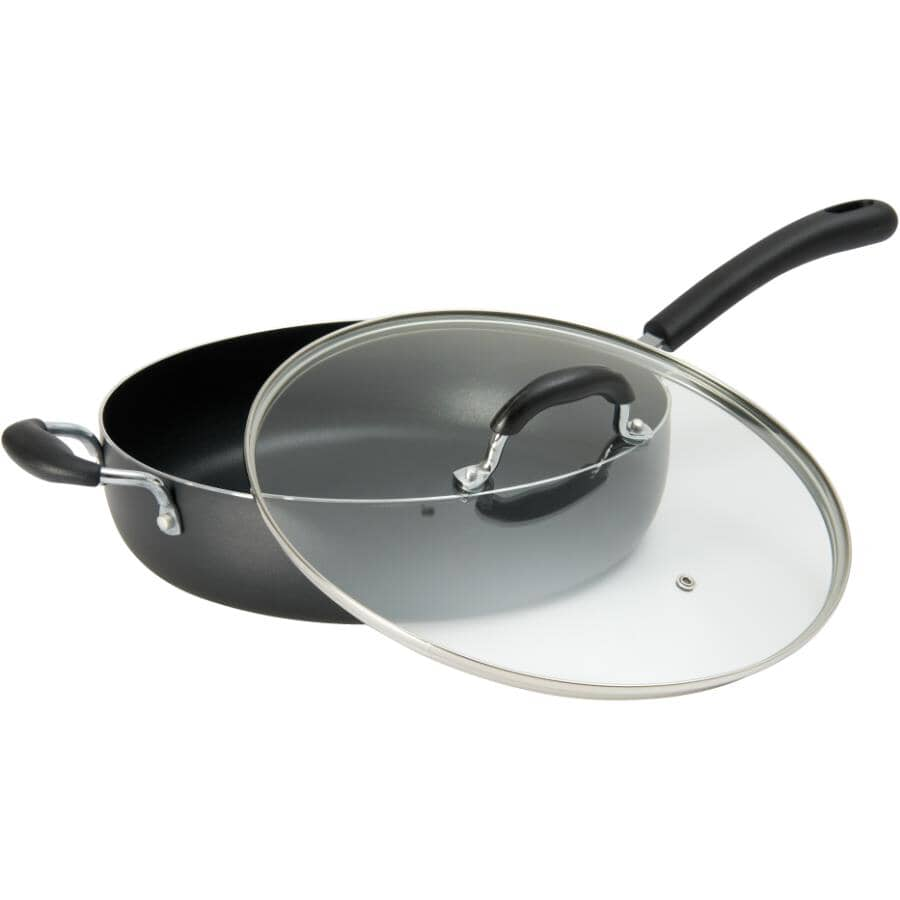 STARFRIT:Non-Stick Jumbo Cooker - with Glass Lid, 5 Qt