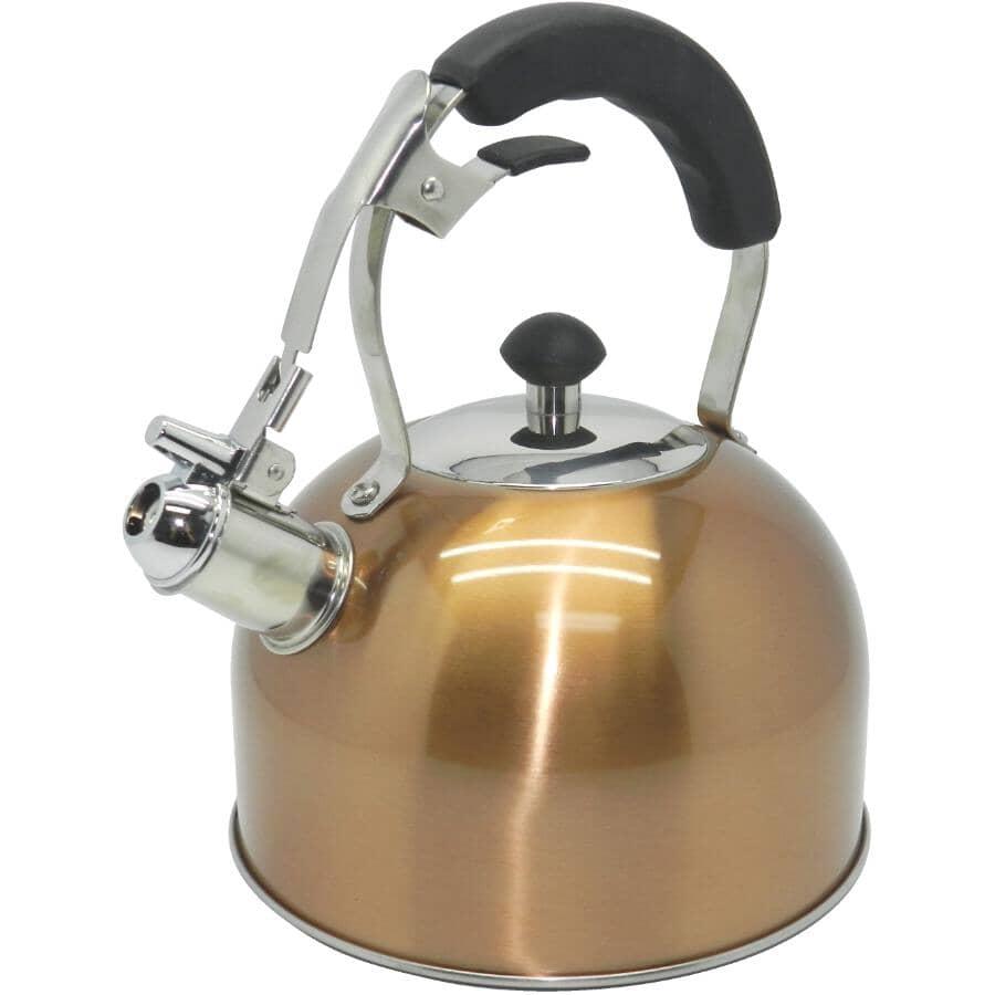 KURAIDORI:2.5L Stainless Steel/Copper Whistling Tea Kettle