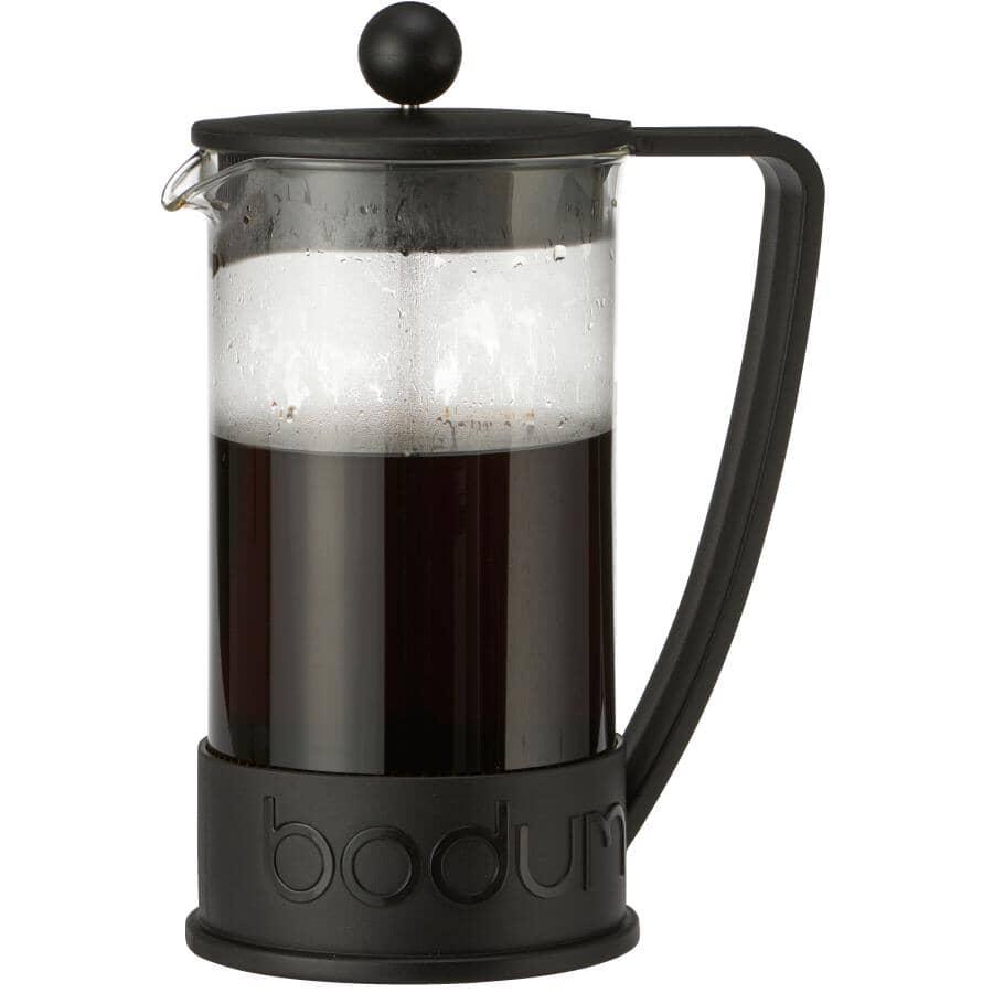 BODUM:Brazil French Press Coffee Maker - Black, 1 L