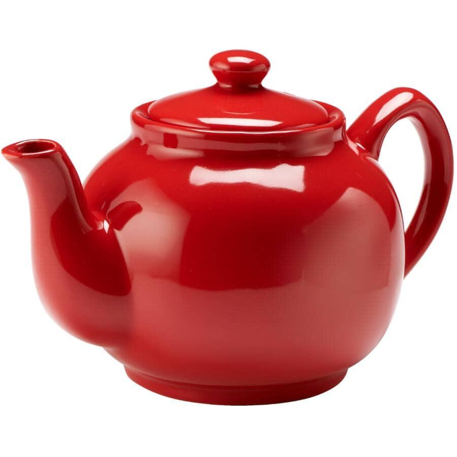 MAISON PLUS:Stoneware Teapot - Red, 1.42 L