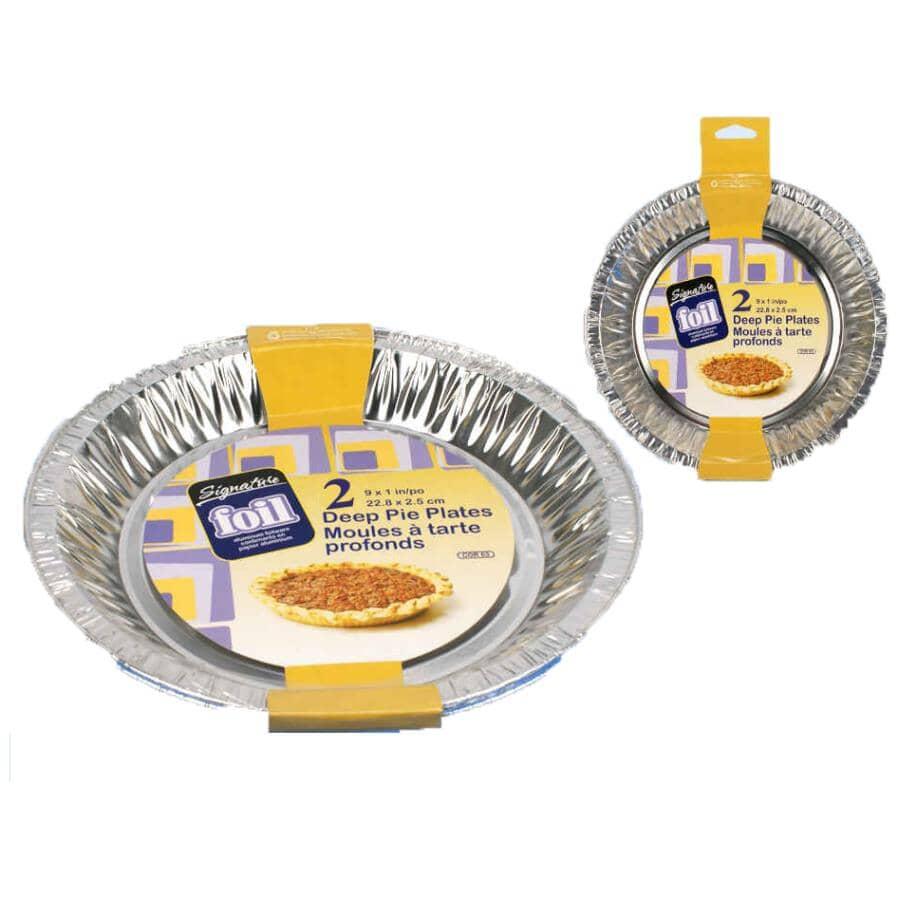 """CTG BRANDS:3 Pack 9"""" x 1"""" Foil Pie Plates"""