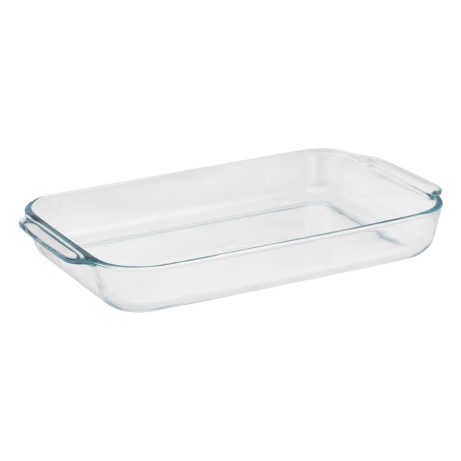PYREX:Oblong Glass Baking Dish - 4 Qt