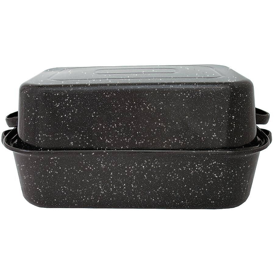 GRANITE WARE:Rectangular Roasting Pan - with Lid, 22 - 25 lb