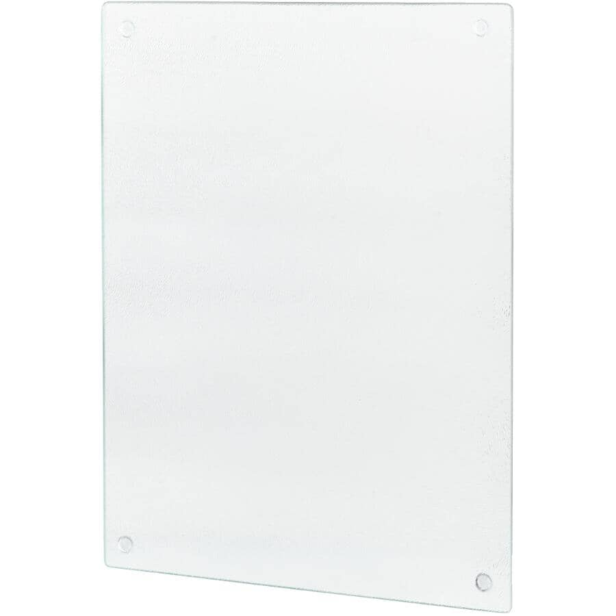 """KITCHEN BASICS:Clear Glass Cutting Board - 12"""" x 16"""""""
