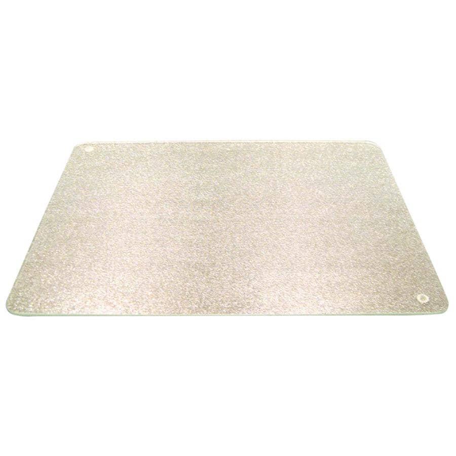 """KITCHEN BASICS:Clear Glass Cutting Board - 20"""" x 16"""""""