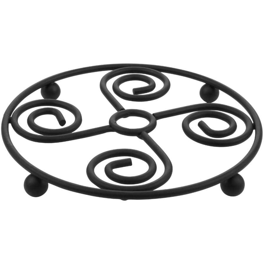 SPECTRUM:Round Scroll Trivet - Black