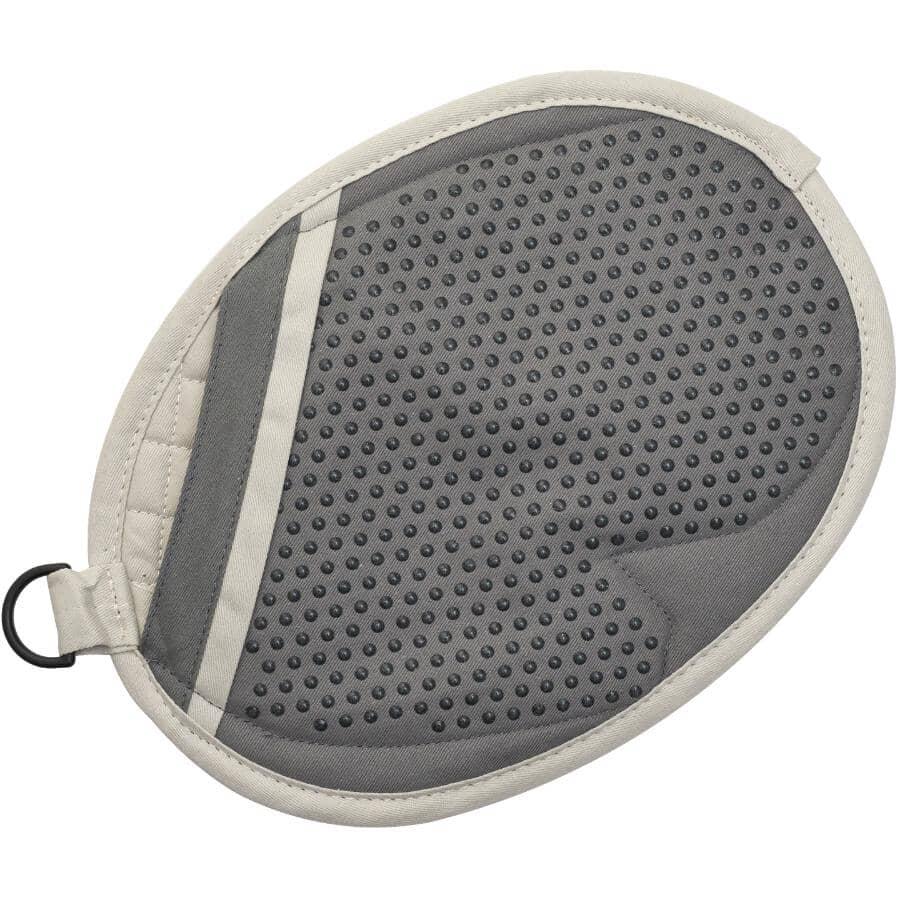KURAIDORI SELECT:Poignée de cuisine en coton avec prise en silicone, gris