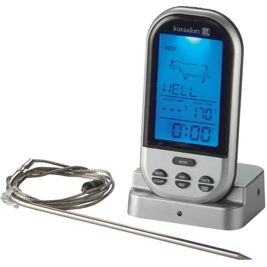 KURAIDORI:Wireless Digital Meat Thermometer & Timer