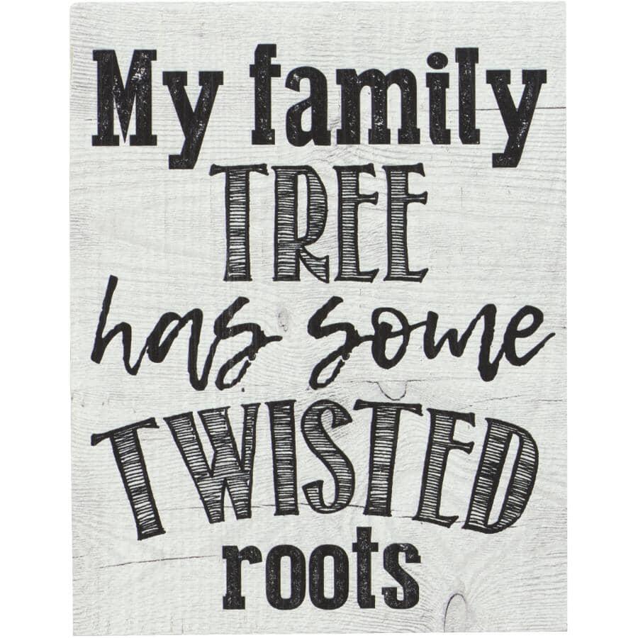 STREAMLINE ART:Plaque murale My Family Tree, 7 po x 9 po