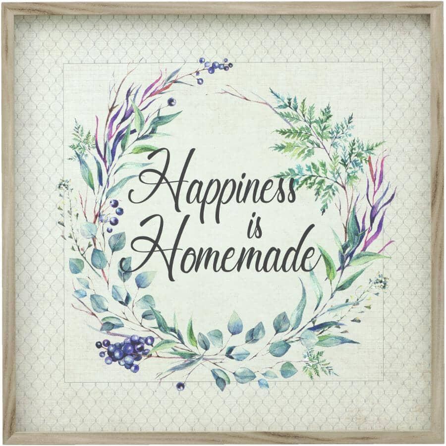 "STREAMLINE ART:Happiness is Homemade Framed Plaque - 26"" x 26"""