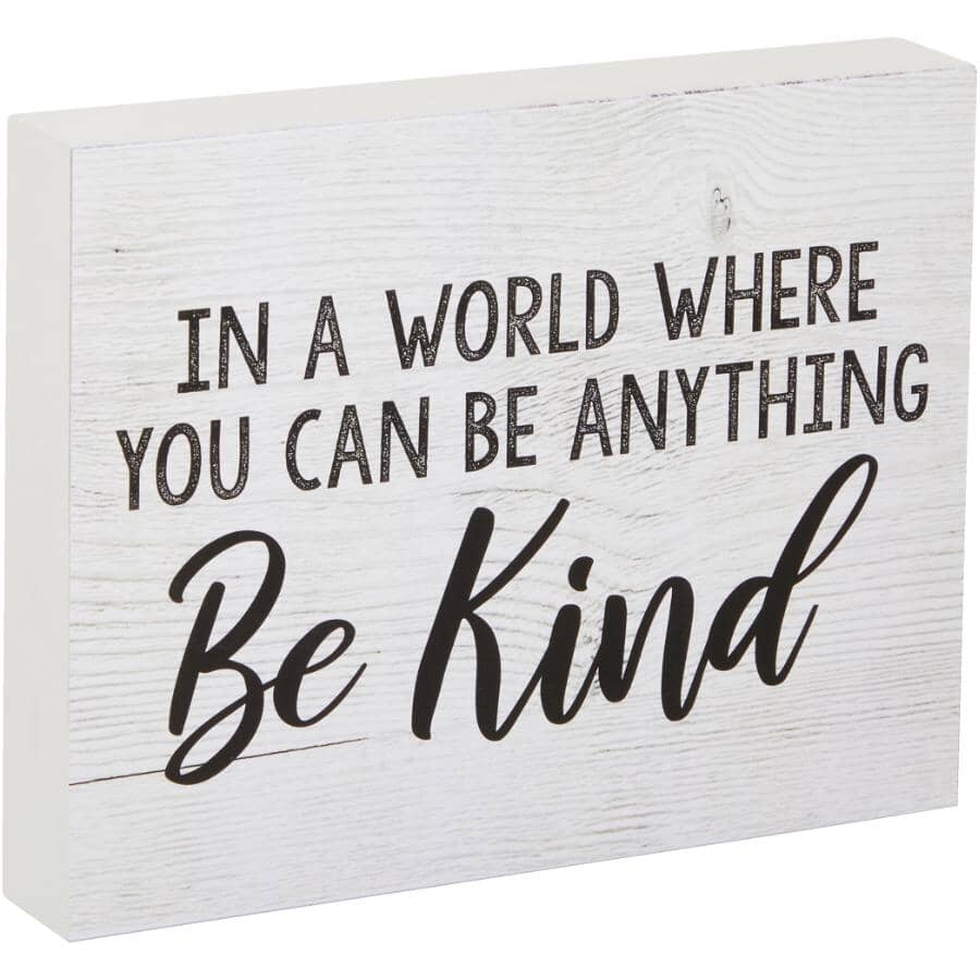 """STREAMLINE ART:In A World Where You Can Be Anything Be Kind Wall Plaque - 7"""" x 9"""""""