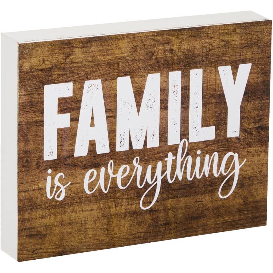 """STREAMLINE ART:Family is Everything Wall Plaque - 7"""" x 9"""""""