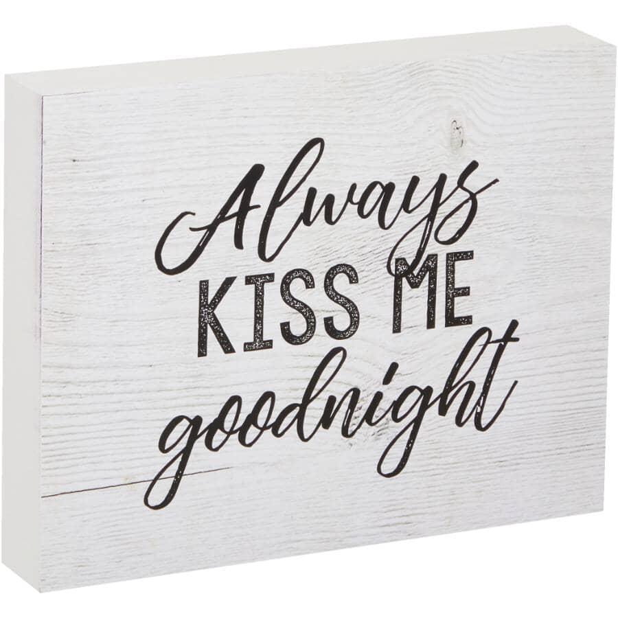 "STREAMLINE ART:Always Kiss Me Goodnight Wall Plaque - 7"" x 9"""