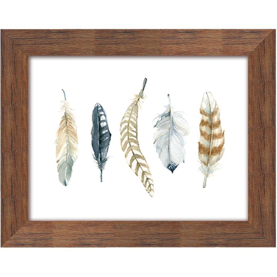 """STREAMLINE ART:16"""" x 20"""" Feather Collection 2 Framed Plaque"""