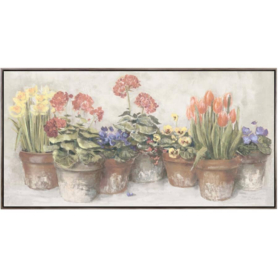 """STREAMLINE ART:32"""" x 62"""" Spring In The Greenhouse Wall Plaque"""