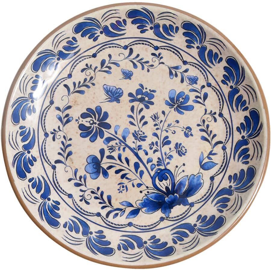 """TUNDRA:8"""" Blue Melamine Salad Plate"""