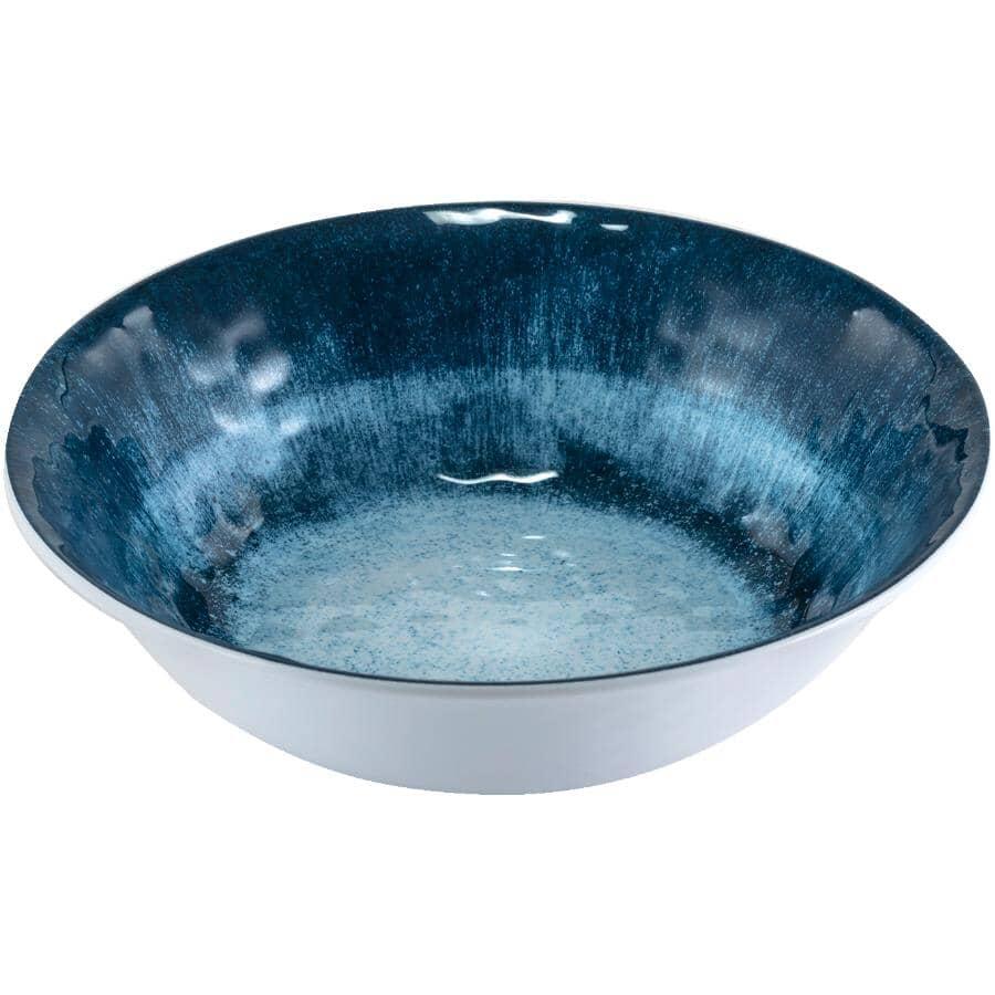 "SULLY INNOVATIONS:Blue Ikat Salad Bowl - Melamine, 7.5"""