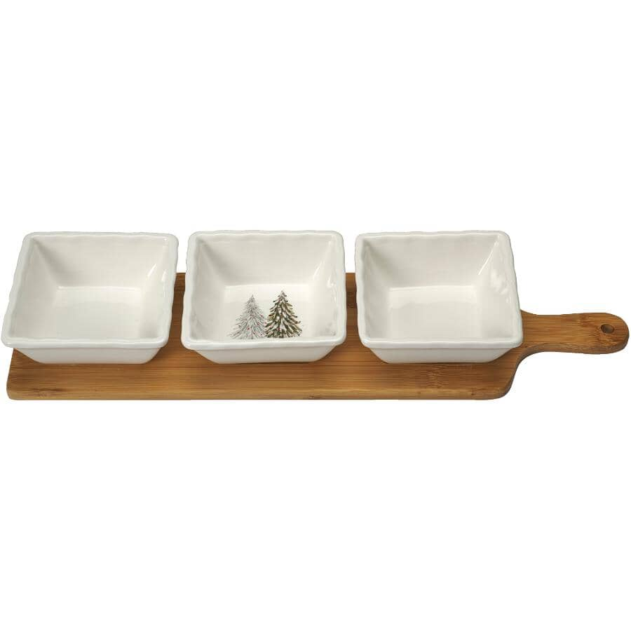 KOPPERS HOME:Christmas Serving Set - with Wooden Serving Tray
