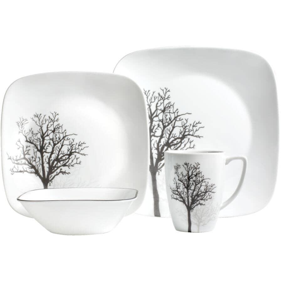 CORELLE:16 Piece Studio Timber Shadows Dinnerware Set