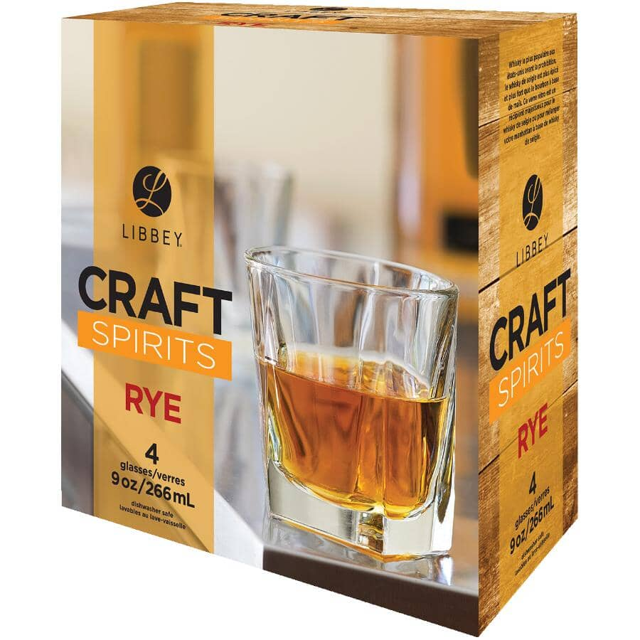 LIBBEY:Perfect Craft Rye Glass Set - 4 Pack