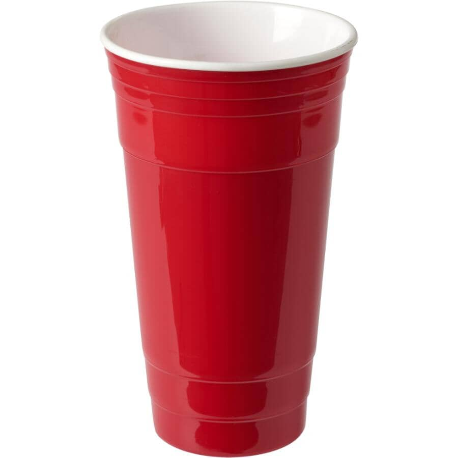 LUCIANO:32oz Red Double Wall Insulated Tumbler