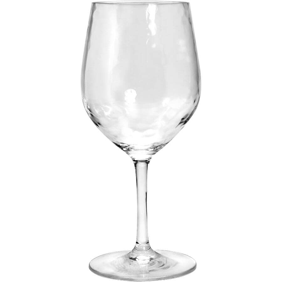 SULLY INNOVATIONS:17oz Hammered Clear Stemware Wine Glass