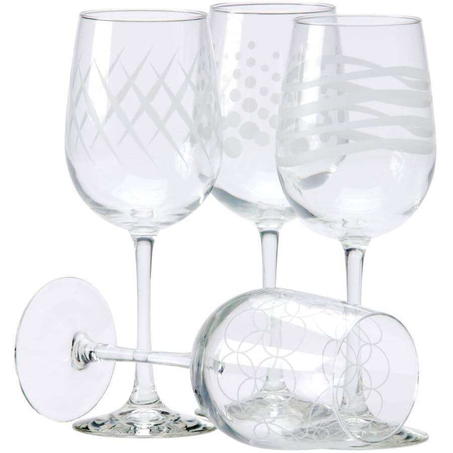 LIBBEY:4 Pack 16oz Adorn Wine Stemware Set