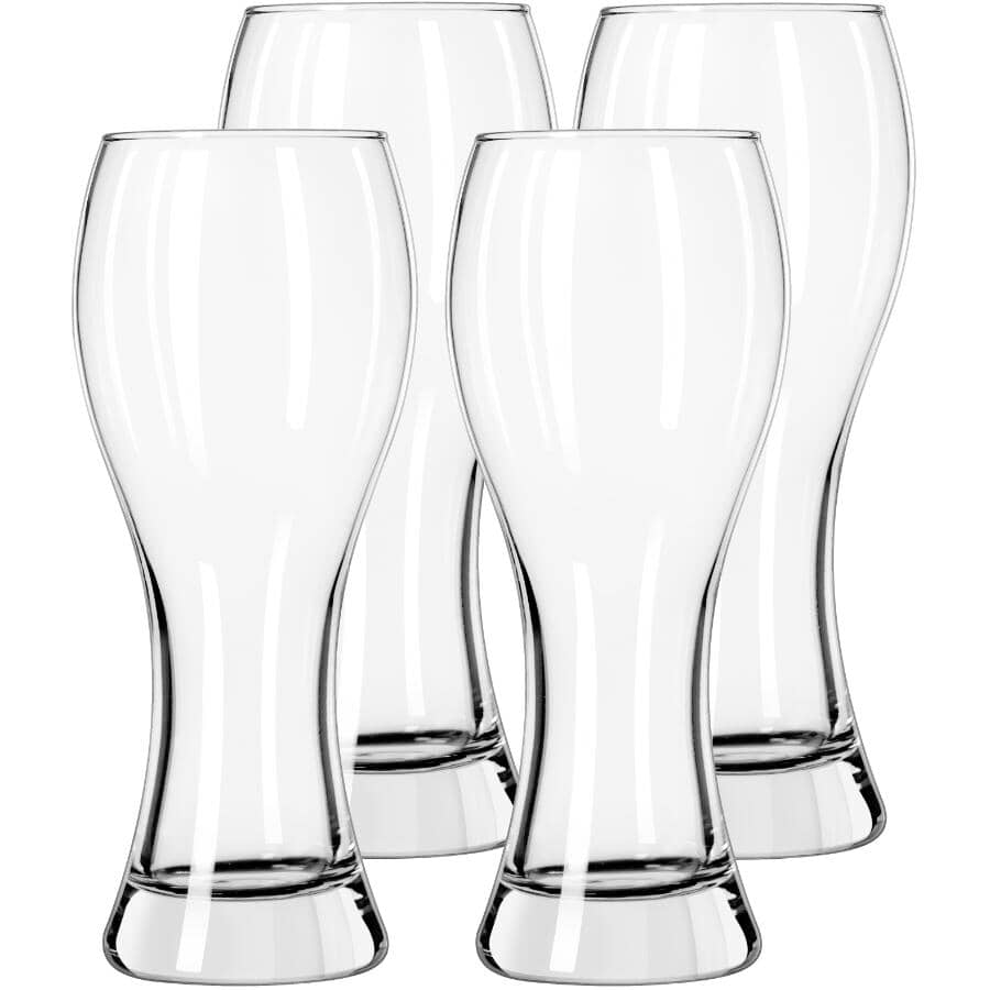 LIBBEY:4 Piece 23oz Glass Craft Pub Wheat Beer Set