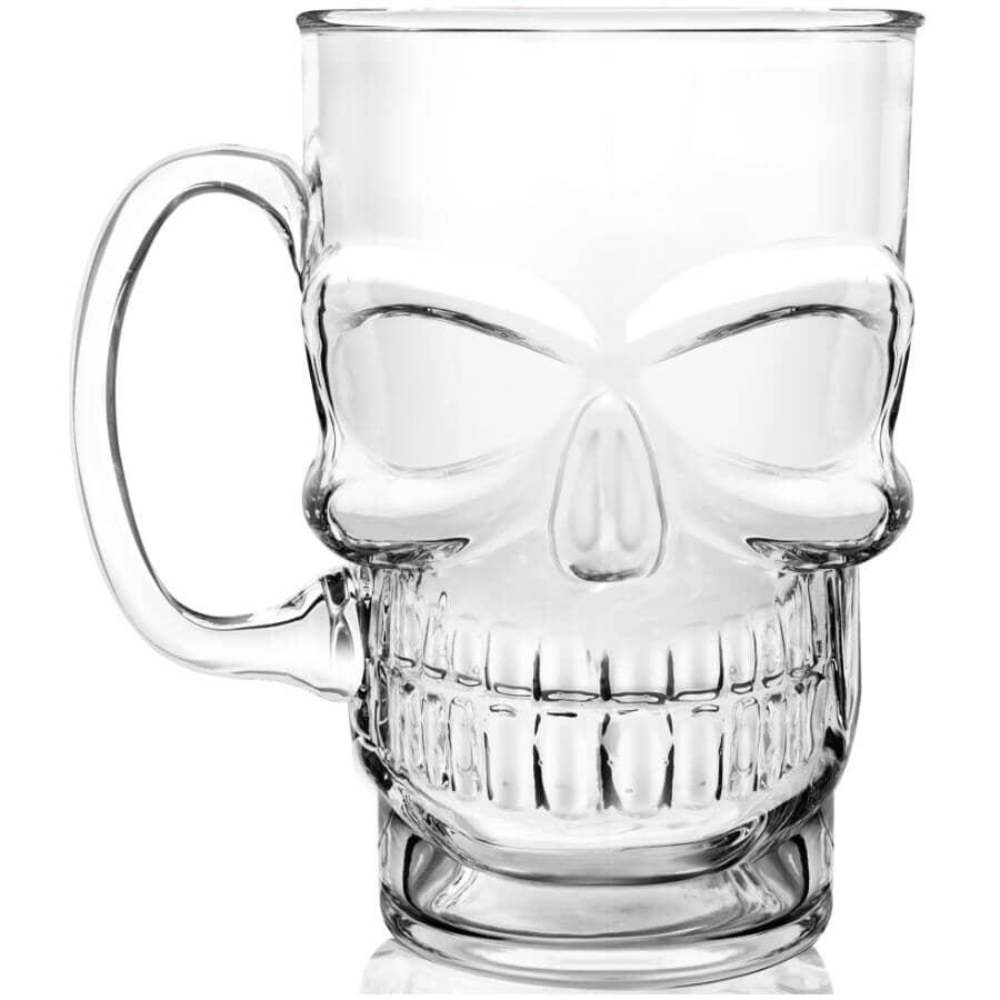 FINAL TOUCH:23oz Glass Skull Beer Mug