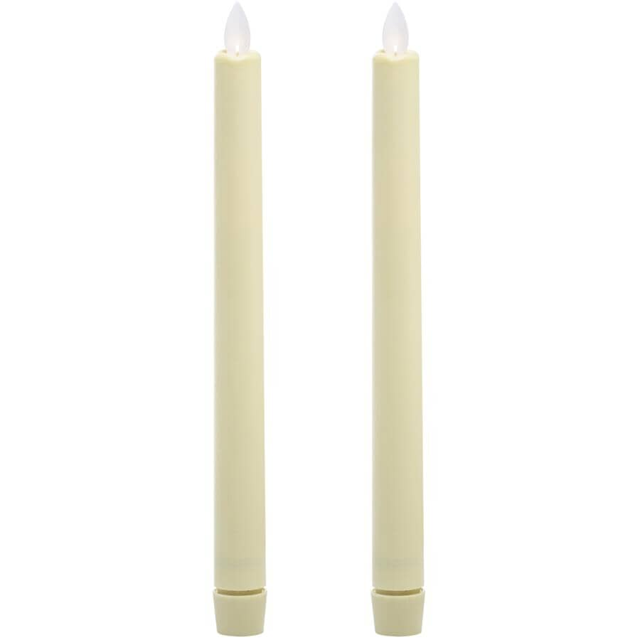 IFLICKER:Tapered Dinner Candles - 2 Pack