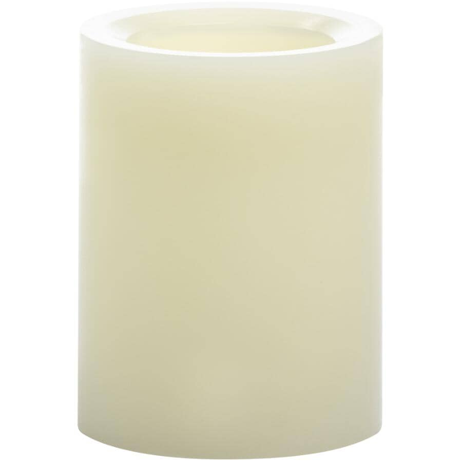 "INGLOW:LED Flameless Pillar Candle - Cream, 3"" x 4"""