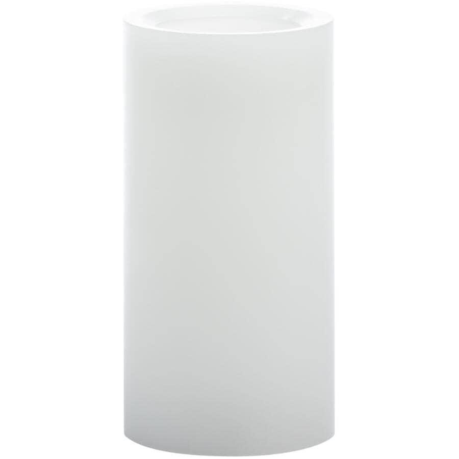 INGLOW:Chandelle cylindrique à DEL sans flamme, blanc, 3 x 6 po