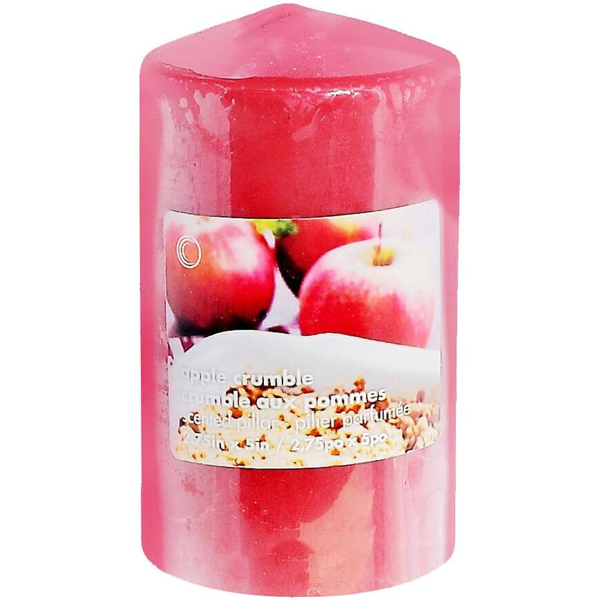 """CANDLE CONCEPTS:Apple Crumble Pillar Candle - 2.75"""" x 5"""""""