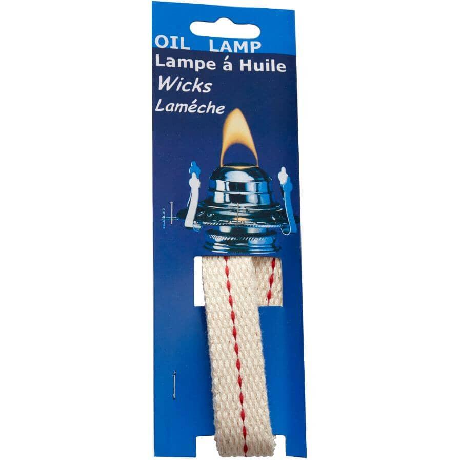 """GENERIC:3/4"""" x 8"""" Flat Lamp Wick - 3 Pack"""