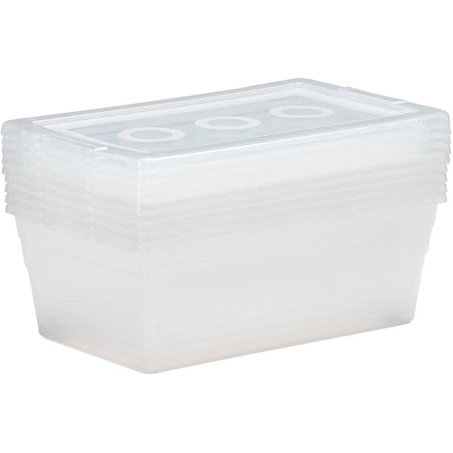 KIS:5 Pack 6.1L Clear Omni Storage Boxes