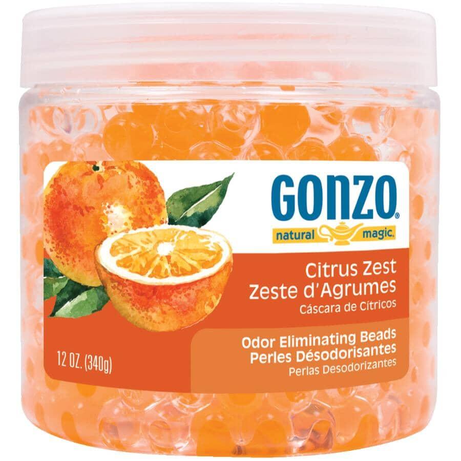 GONZO:Odour Eliminating Beads - Citrus Zest Scent, 340 g