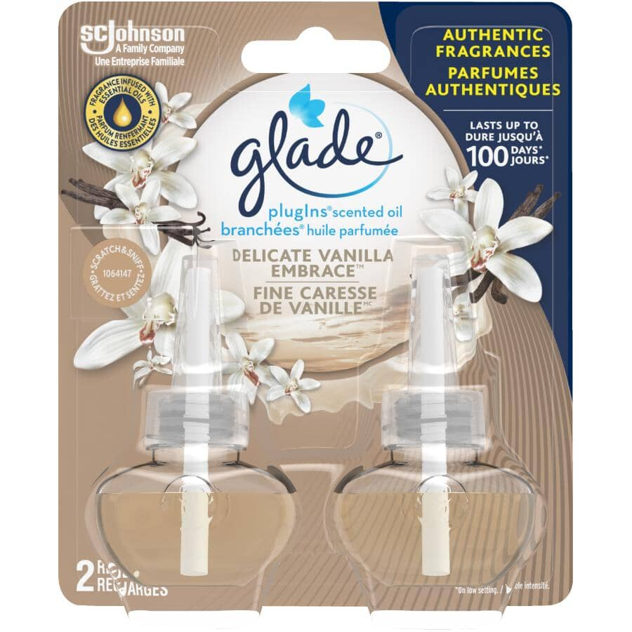 GLADE:2 Pack Vanilla Breeze Scented Oil Plug-In Air Freshener Refills