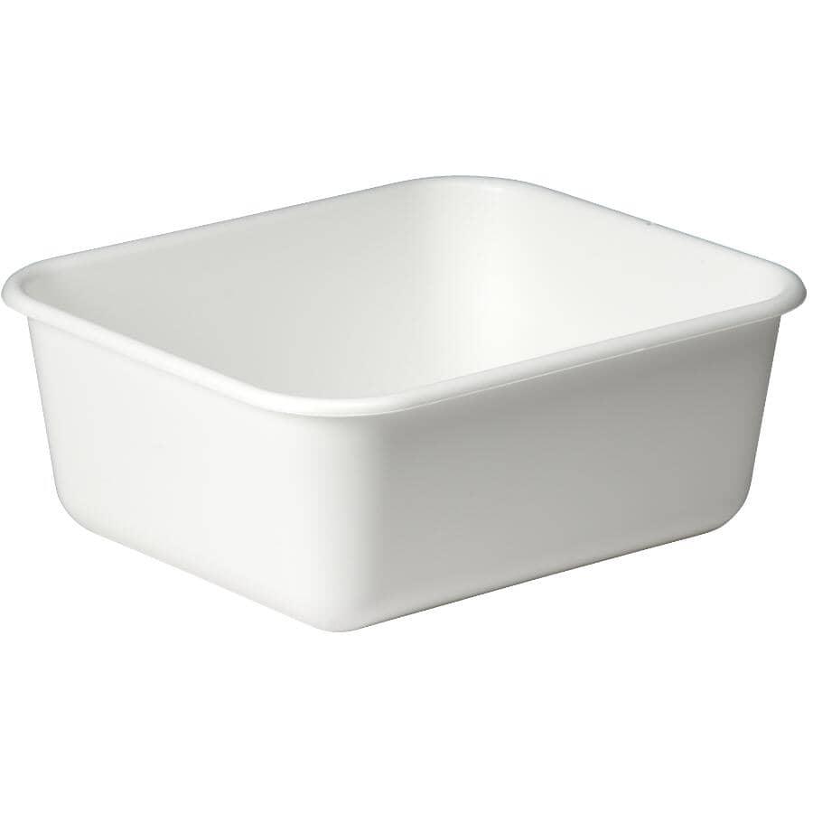 "HOMEWARES:Dishpan - White, 12"" x 14"""