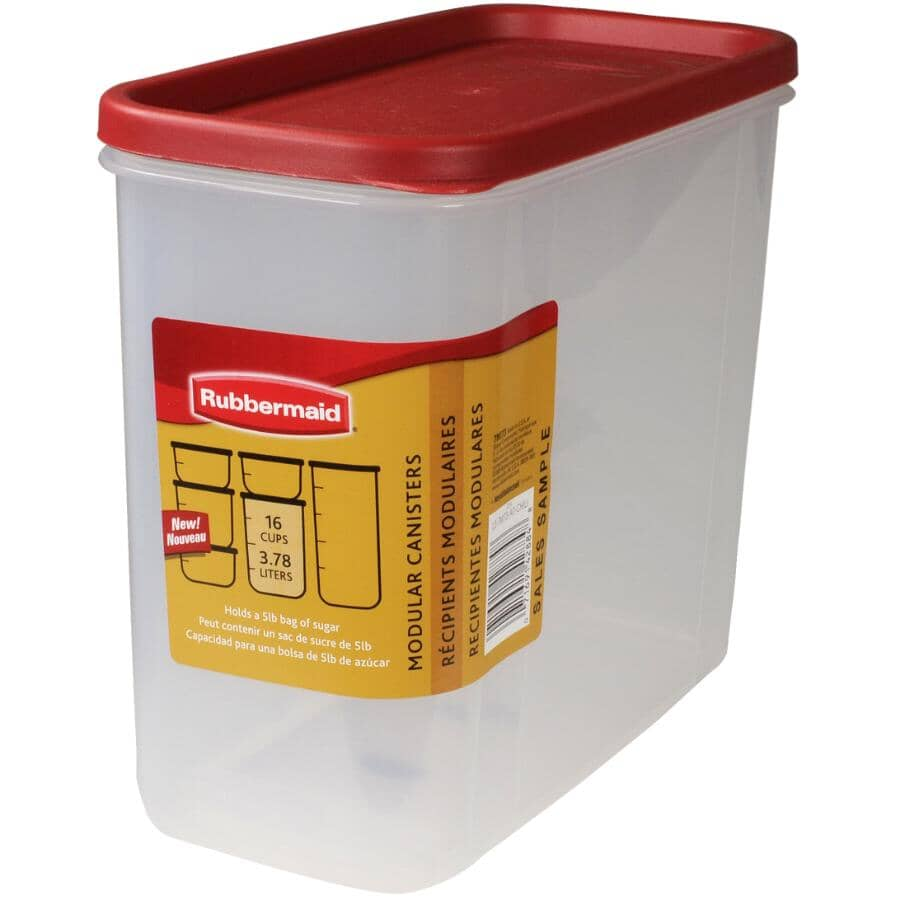 RUBBERMAID:Plastic Dry Food Canister - 3.8 L