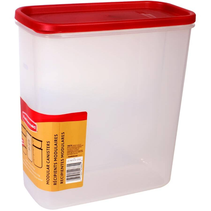 RUBBERMAID:Plastic Dry Food Canister - 5 L