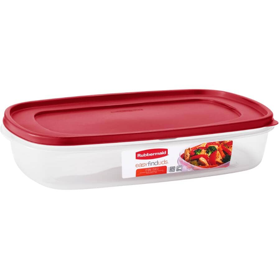 RUBBERMAID:Easy Find Lids Rectangular Food Storage Container - 5.7 L