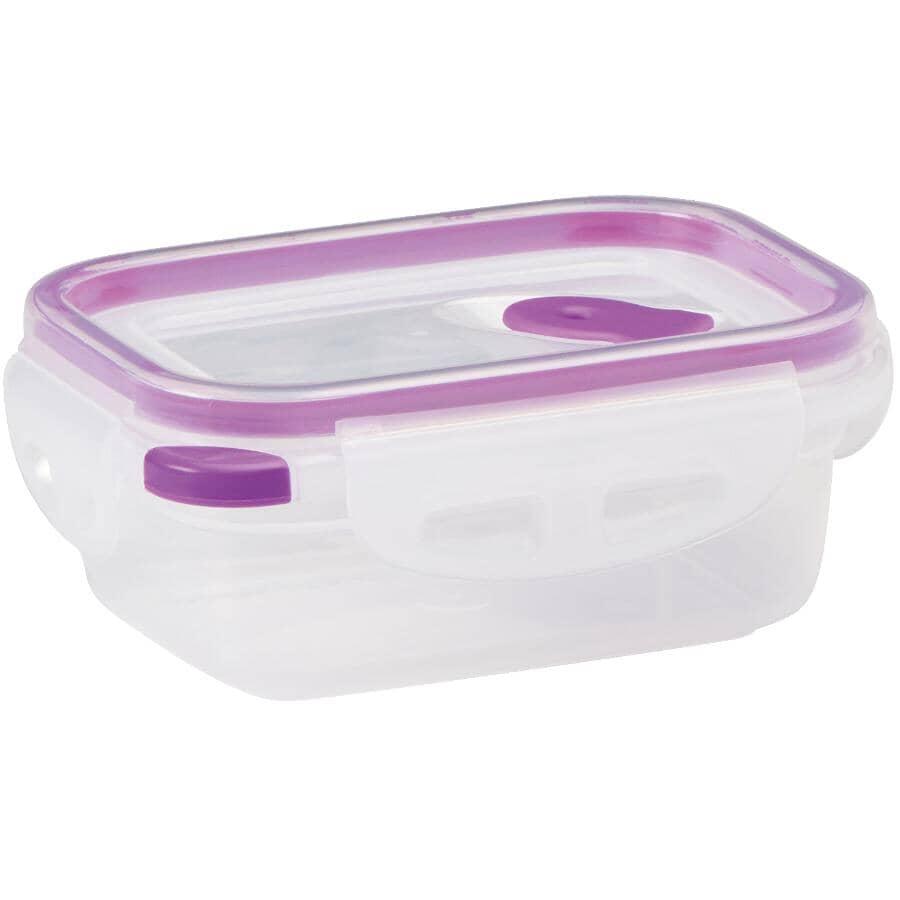 STORE N LOCK:Rectangular Plastic Stackable Container - 330 ml