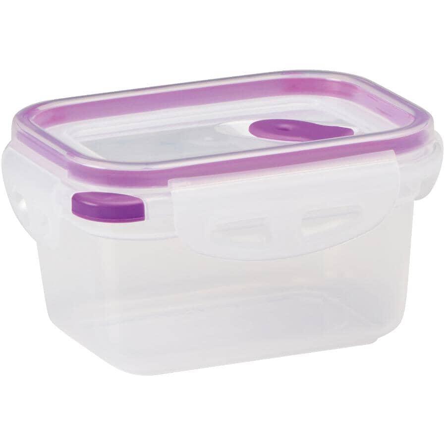 STORE N LOCK:Rectangular Plastic Stackable Container - 460 ml