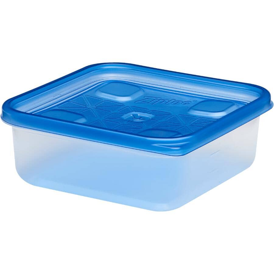 ZIPLOC:4 Pack 709mL Small Disposable Square Food Containers