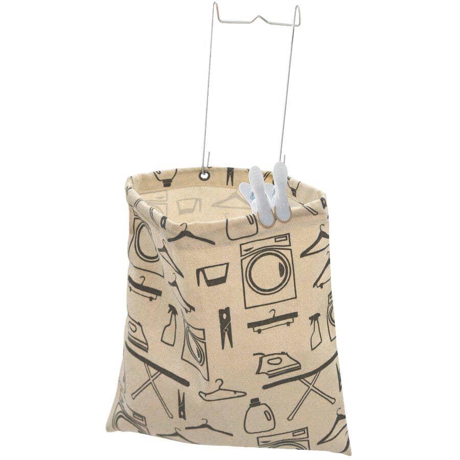 "NEATFREAK:Hanging Canvas Clothespin Bag - 11"" x 11.8"""