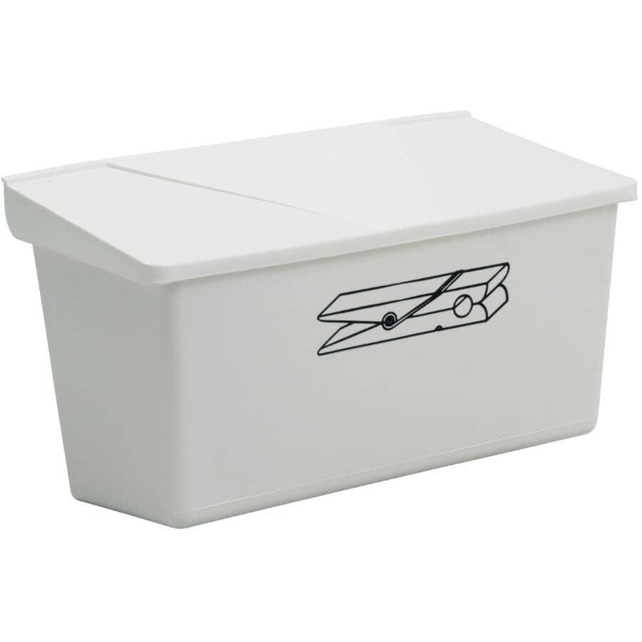 "GENERIC:Plastic Clothespin Box - 10"" x 6"" x 6"""