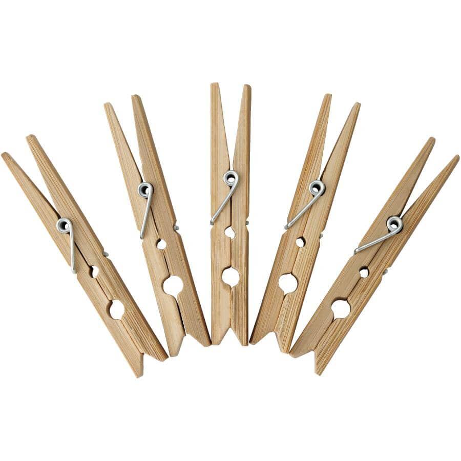 NATURA:Large Bamboo Clothespins - 24 Pack